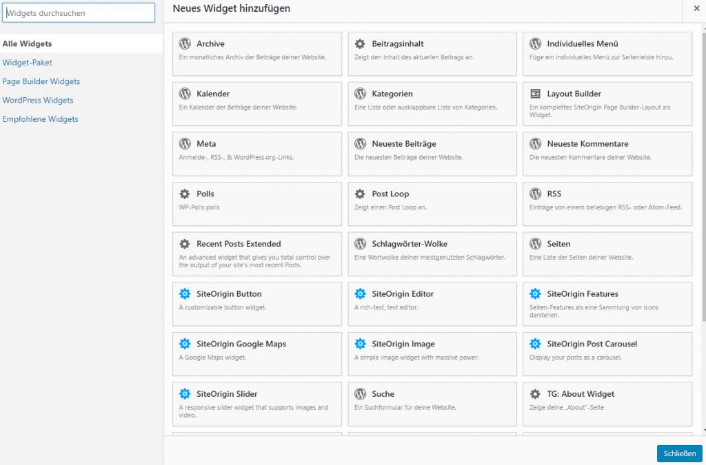 WordPress Design für Anfänger mit  dem Page Builder von Site Orign